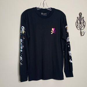 TOKIDOKI Dream Sleeves Black Shirt Sz S
